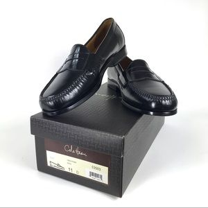 New Cole Haan Mens 11D Black Pinch Penny Loafers